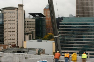 working crew during hvac installation